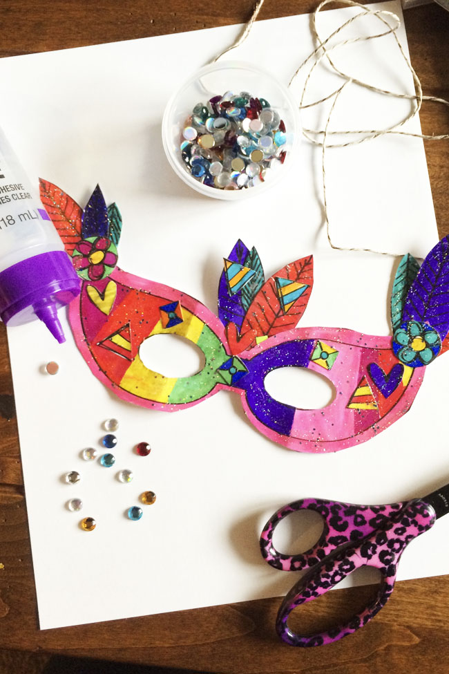 Printable Mardi Gras Mask Craft