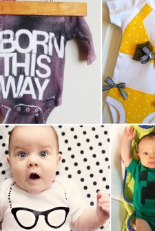 15 {Adorable} DIY Baby Onesies