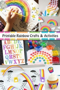 Printable Rainbow Crafts and Activities