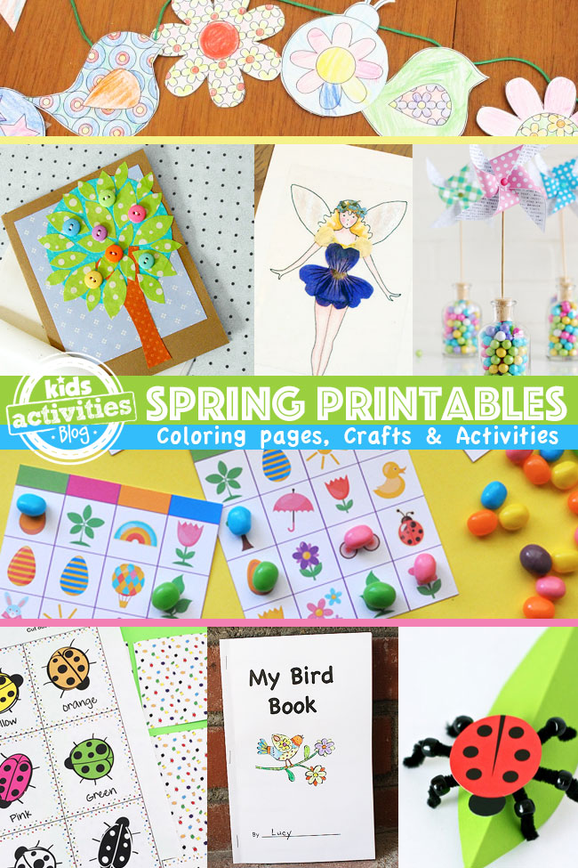 photograph about Spring Printable named Printable Spring Crafts and Functions