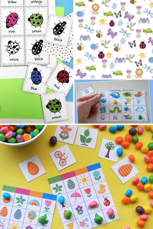 printable Spring games