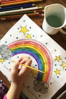 Cute Rainbow Coloring Page Printable