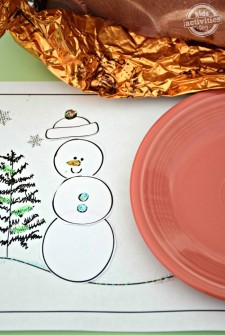 Build Your Own Snowman Printable Holiday Placemats