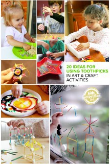 20 Great Ideas for Using Toothpicks in Art and Craft Activities