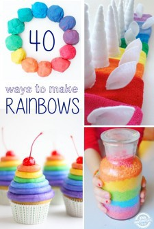 40 Ways to Play and create rainbows