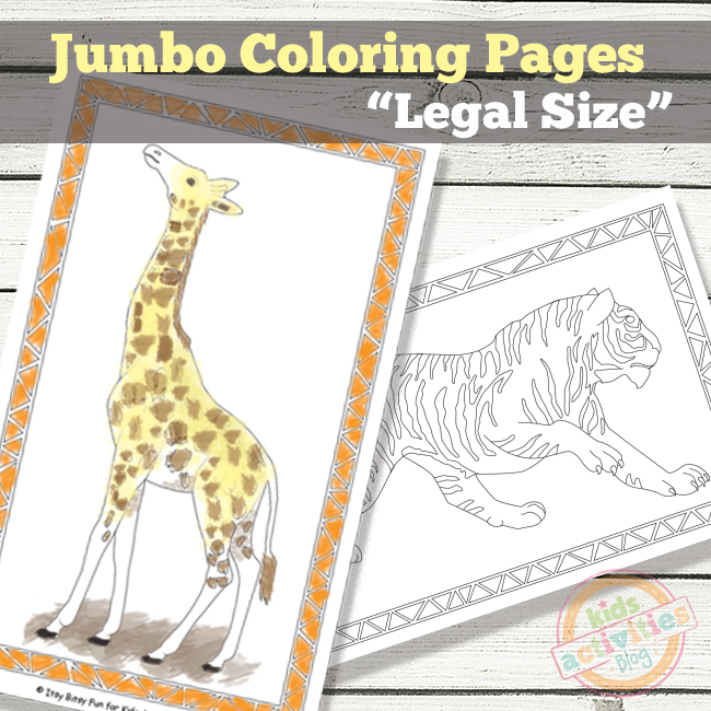 Jumbo coloring pages free kids printables for Jumbo coloring pages