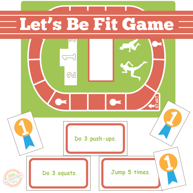 Let's Get Fit Board Game Free Printable
