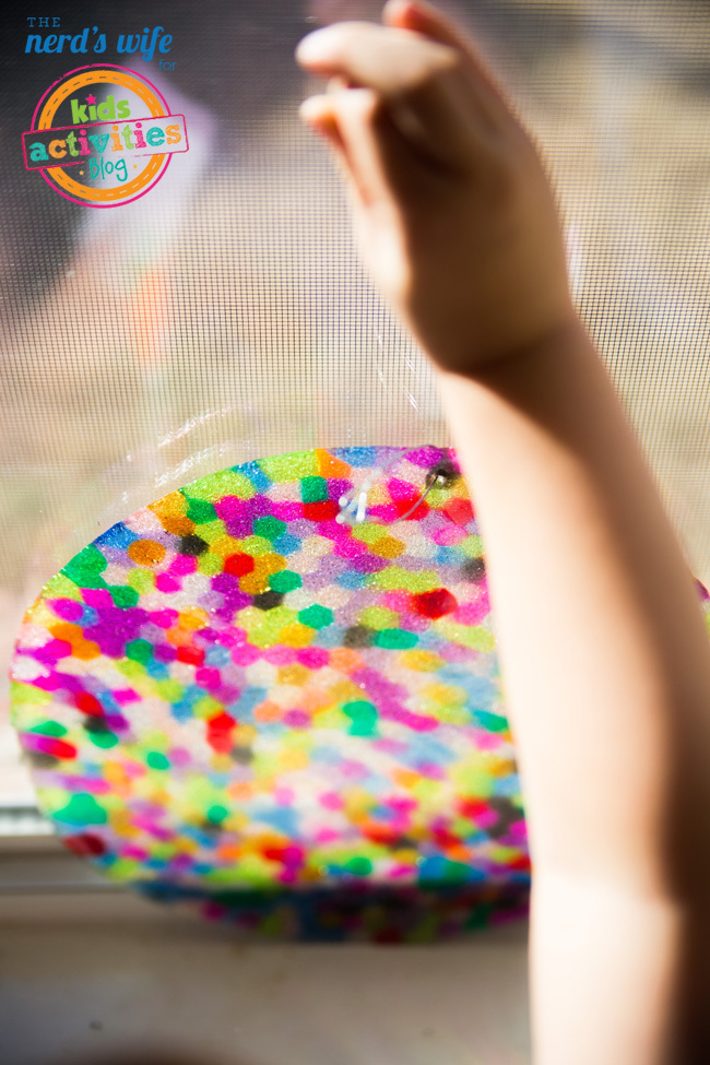 Melted Bead Suncatchers Toddler Help