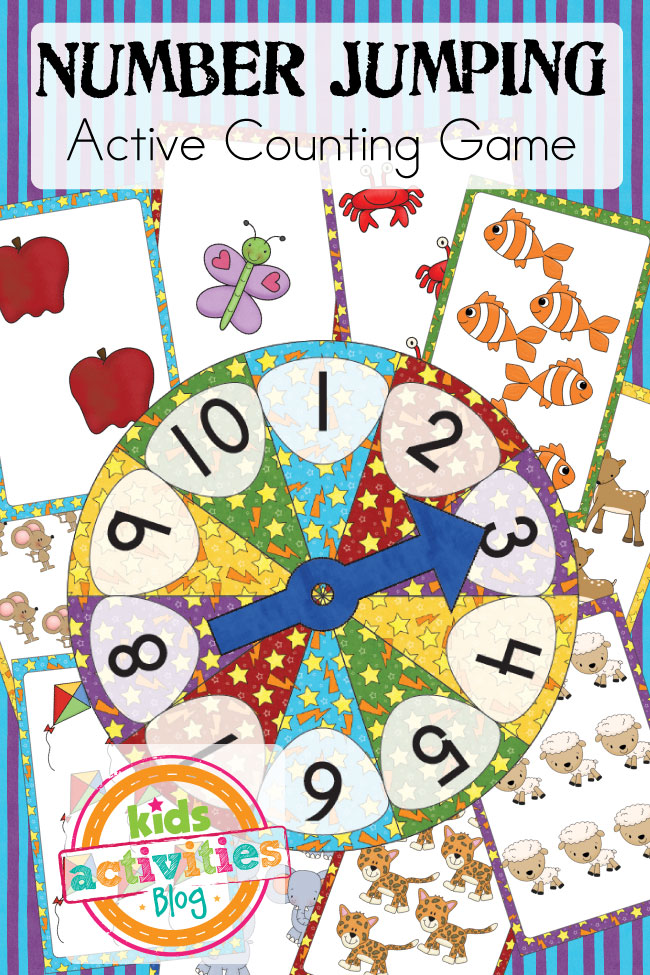 Number Jumping - Active Counting Game... Combine counting practice with active fun!
