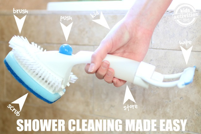 Shower Cleaning Made Easy - Kids Activities Blog