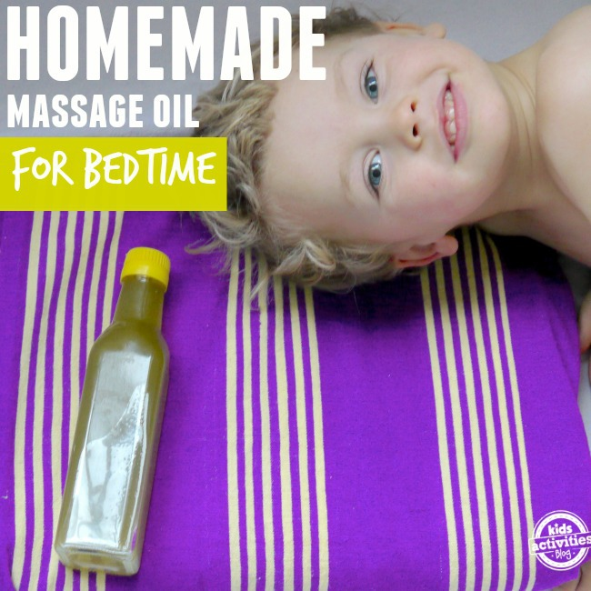 bedtime massage oil for kids