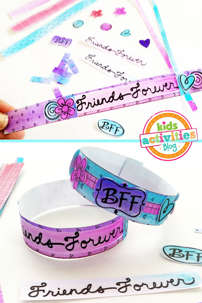 Design your bracelet with all the fun printable pieces