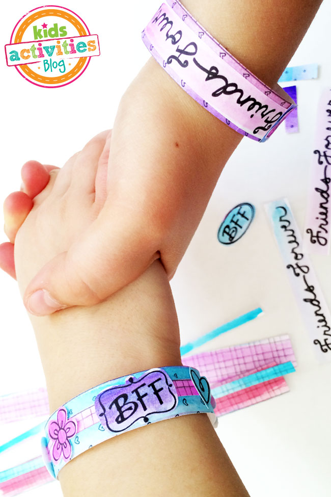 BFF Bracelet printable to make your own BFF Bracelets designed by Jen Goode