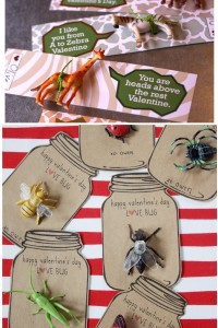 bug and animal valentines for boys