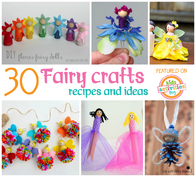 30 fairy crafts and recipes for your little one for Fairy crafts for toddlers