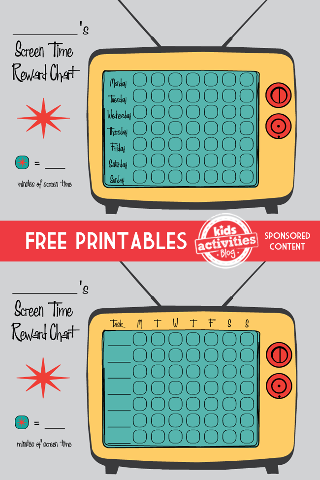 picture relating to Printable Screen Time Charts called Free of charge Printable Show Year Profit Charts