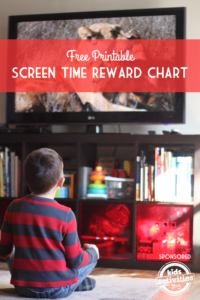 free printable screen time reward chart