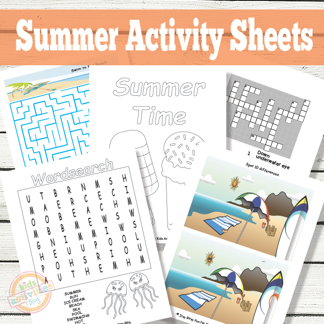 photograph about Printable Activity Books identified as Printable Summer months Game Sheets