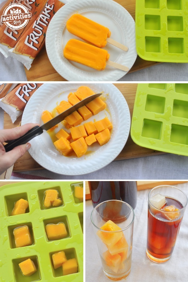 party tip - fruit flavored icecubes