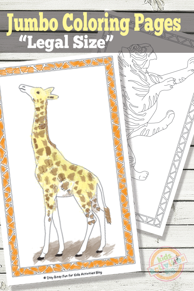 Jumbo Coloring Pages {Free Kids Printables} - Giant Fun ...