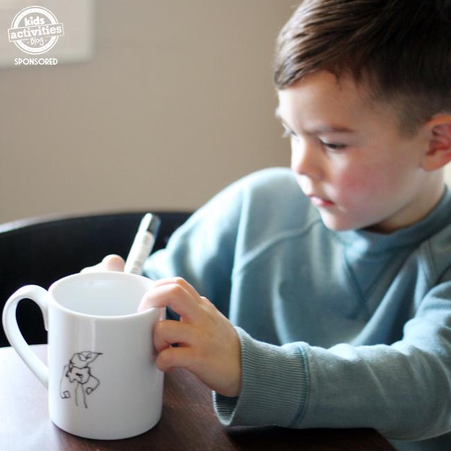 kid art mug