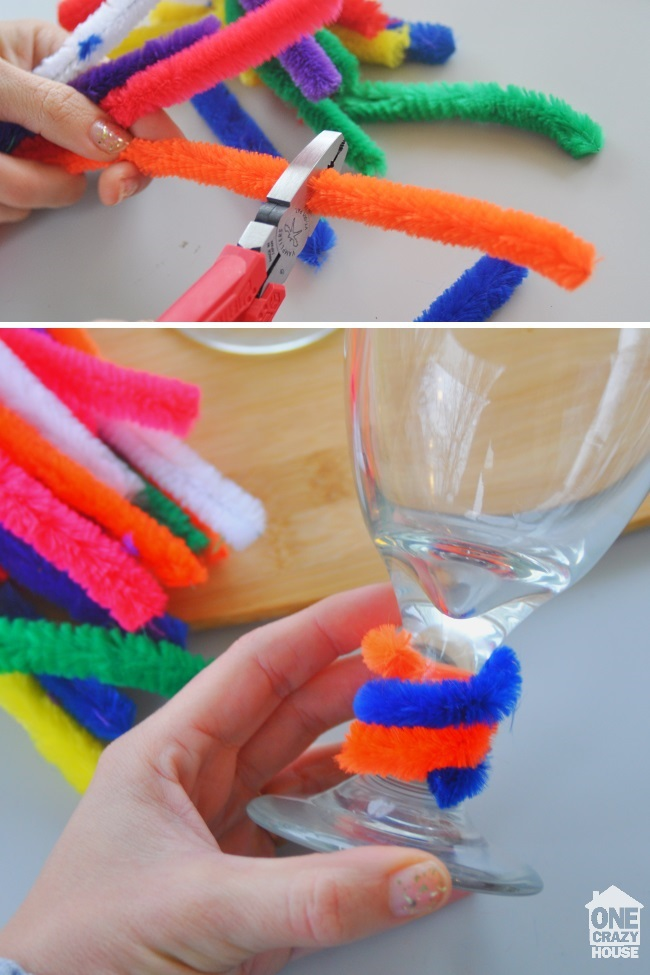 pipe cleaner glass markers