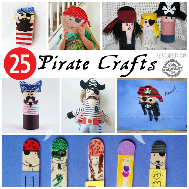 paper bag pirate puppe...