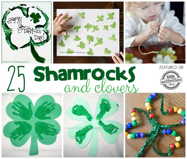 Shamrock Crafts, Activities, and Treats (Clovers Too!)