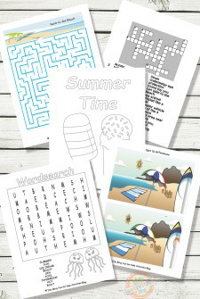 Printable Summer Activity Sheets