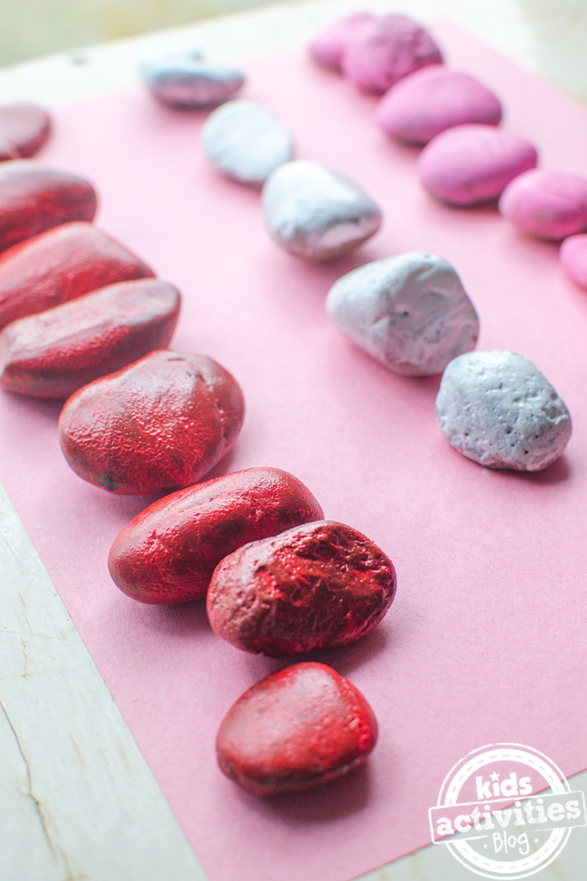 Valentine's Day Heart Stone Craft
