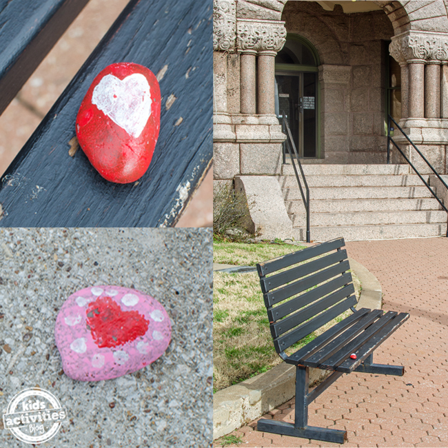 valentine heart stone