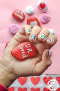 valentines heart stones craft