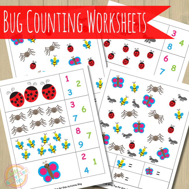 Bug Counting Worksheets