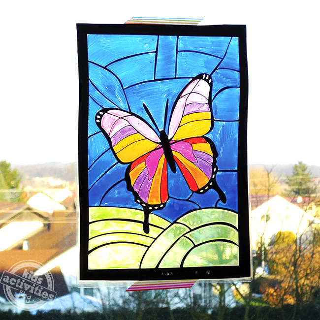 Butterfly Stained Art Project for Kids