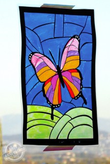 Stained Glass Butterfly Art
