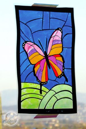 Butterfly Stained Glass Art
