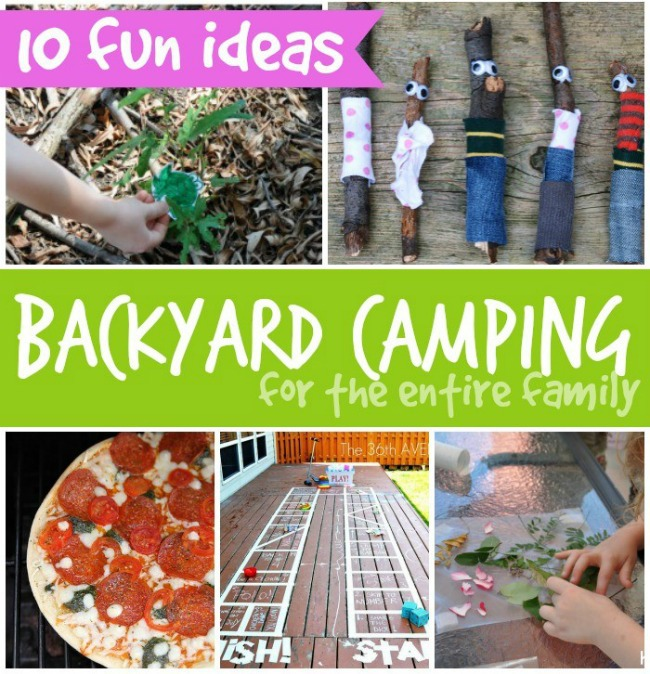 Family Backyard Camping Ideas