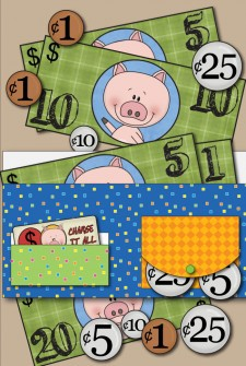Free Printable Wallet With Play Money from Little Learning Lovies and Kids Activities Blog