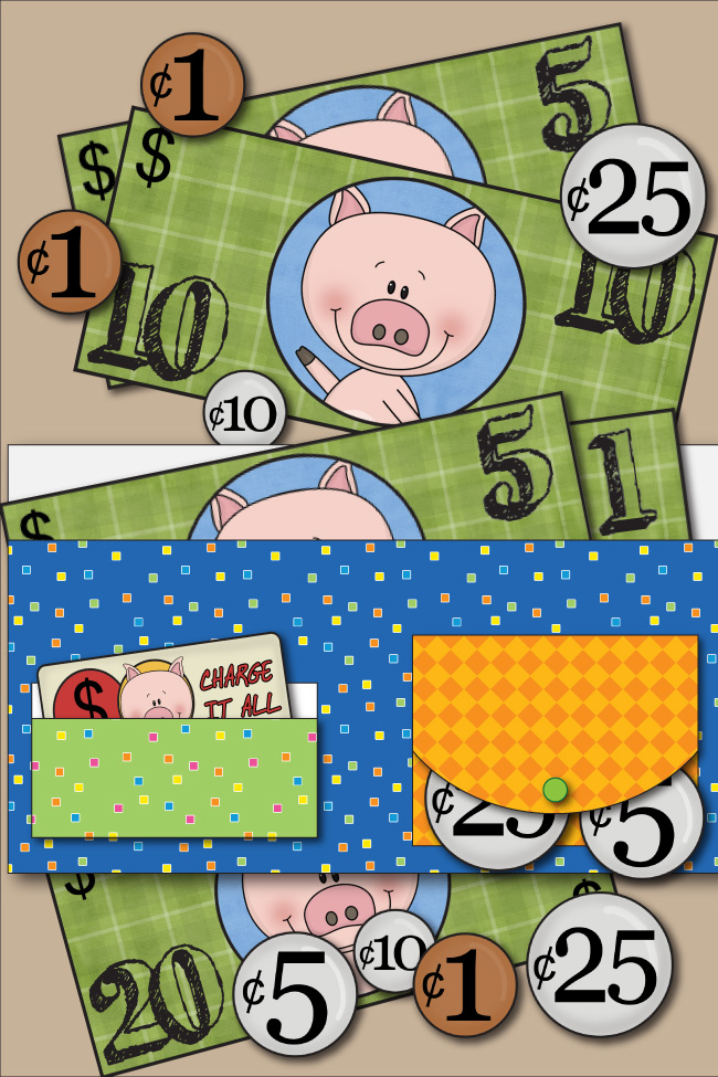 Free Kids Printable Wallet With Play Money