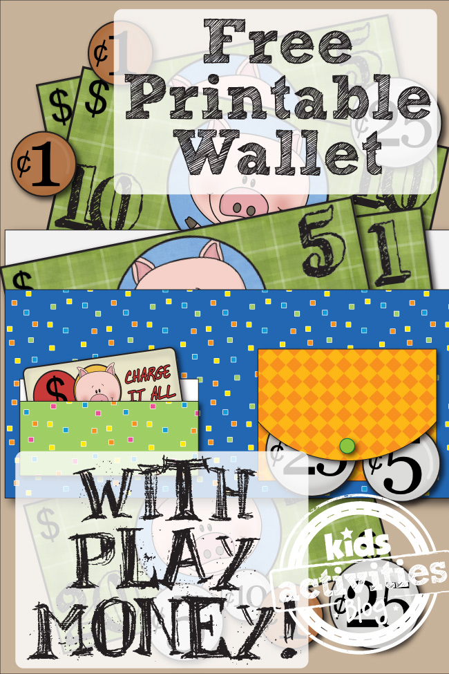 Free Printable Wallet With Play Money makes learning and practicing US ...