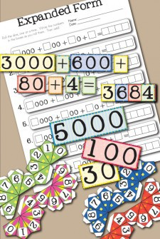 Free Printable Place Value Game for Learning Expanded Form