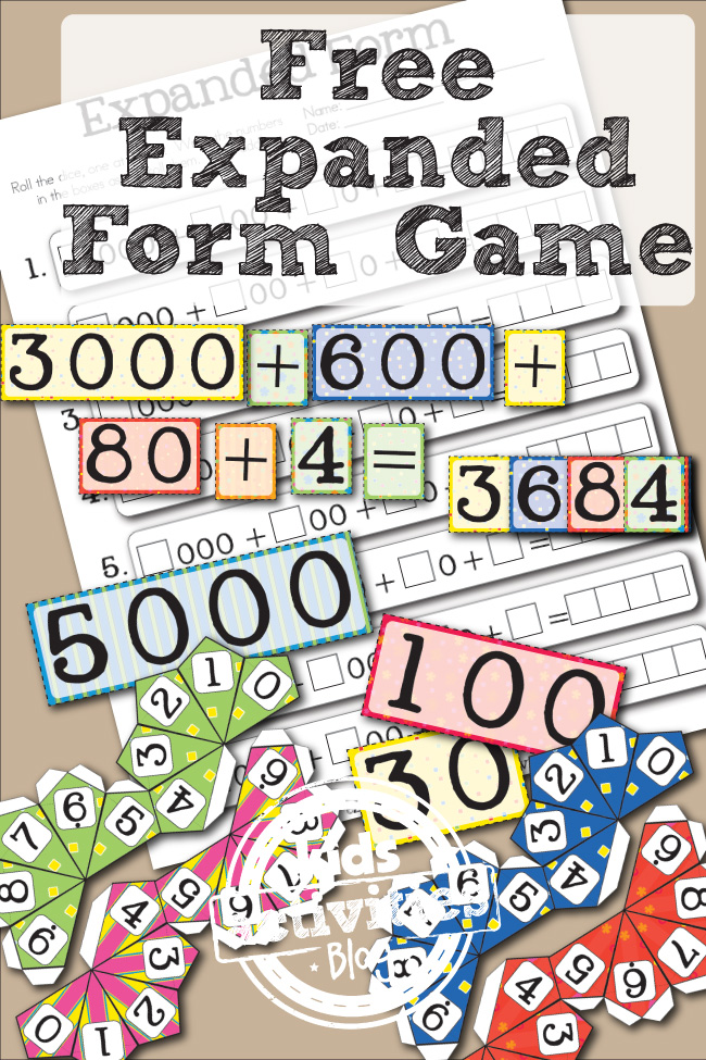 Dashing image regarding printable place value game