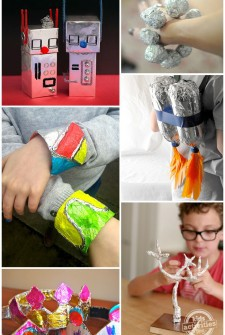 30 Aluminum Foil Crafts & Art Activities – everyday frugal fun!