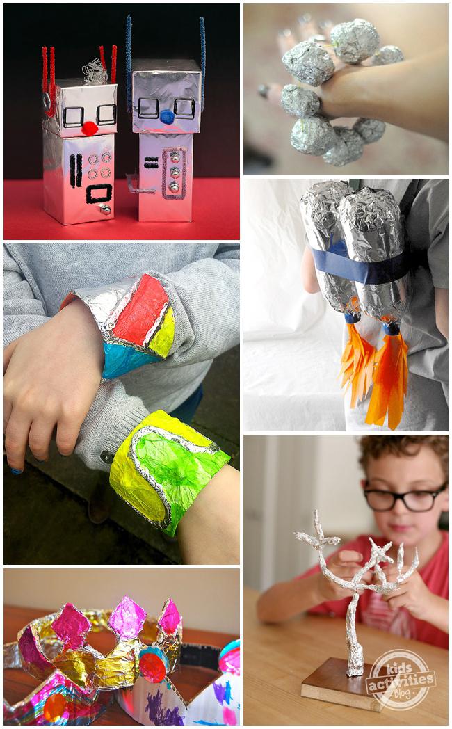 30 Aluminum Foil Crafts Art Activities