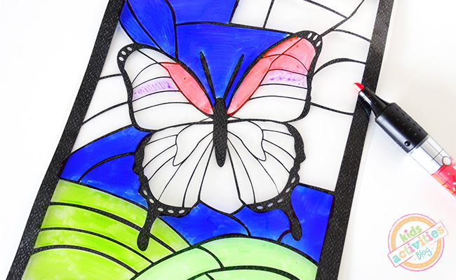 Stained-Glass-Butterfly-Coloring