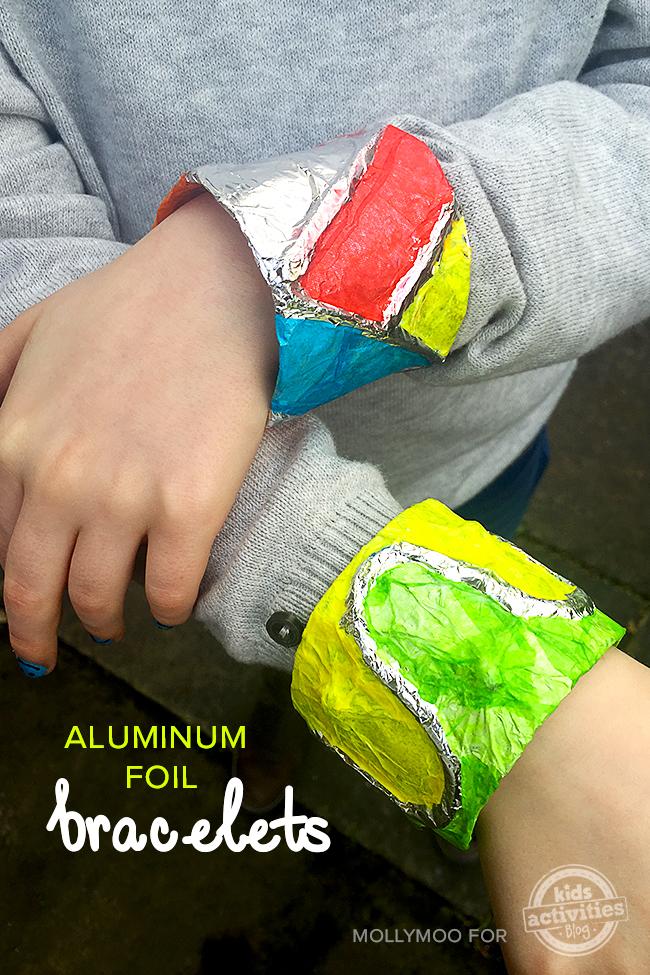 aluminum foil-bracelets