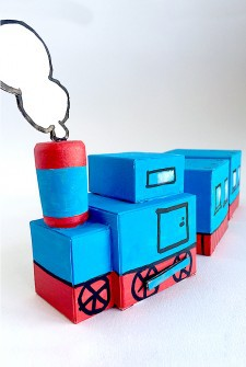 Cardboard Box Train – Pull Along And Play