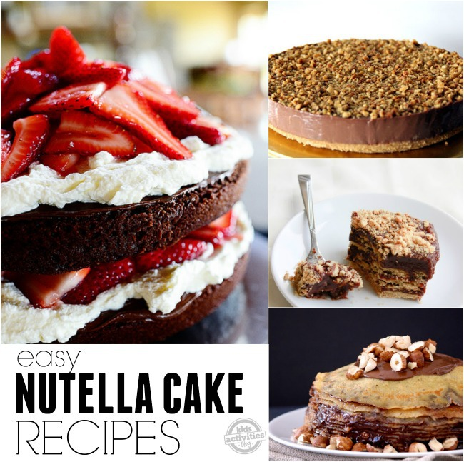 easy nutella cake recipes