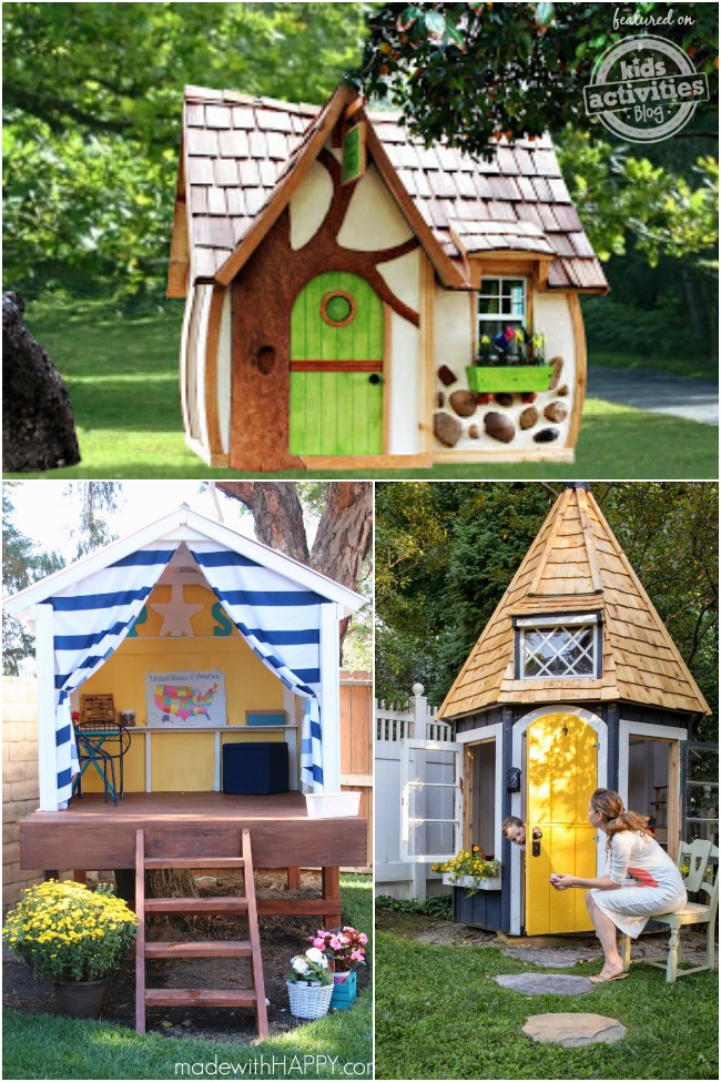 24 outdoor playhouses kids dream about. Black Bedroom Furniture Sets. Home Design Ideas