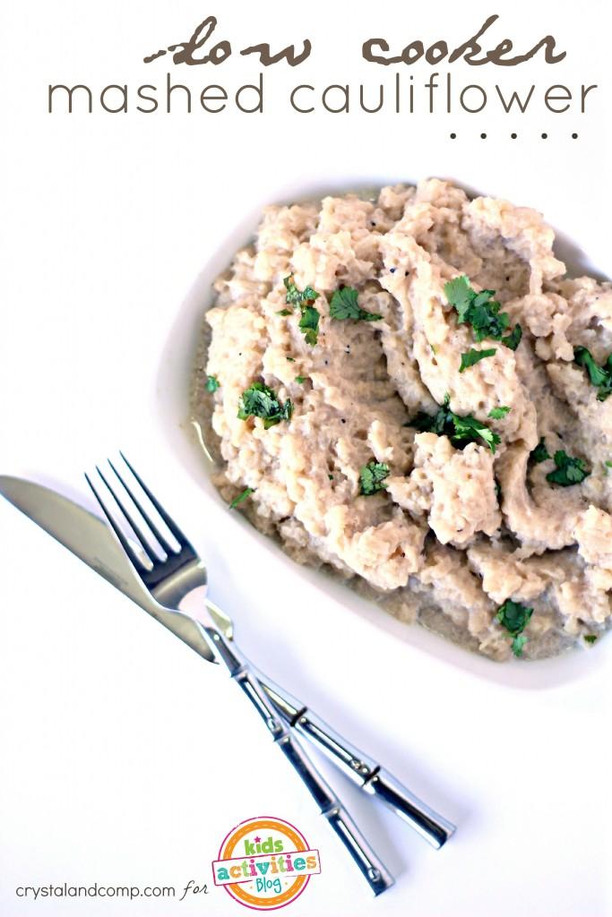 slow cooker mashed cauliflower edited